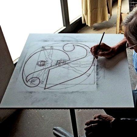 caminetto bioetanolo dipinto a mano fuecopared