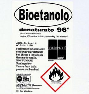 etichetta bioetanolo fuecopared