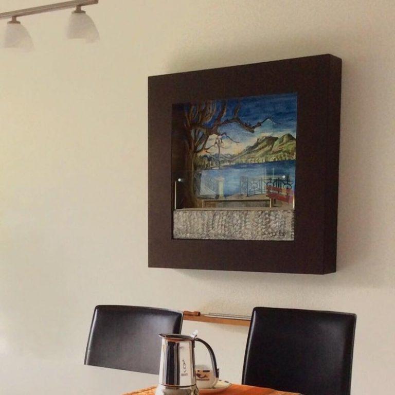 biocamino da parete fuecopared top decorato lugano