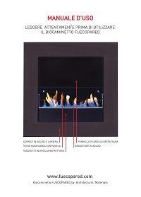 manuale uso camino a bioetanolo fuecopared pagina 1